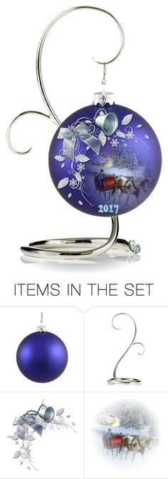 """""""Ornament Design 2017... Sleigh Ride"""" by marvy1 ❤ liked on Polyvore featuring art"""