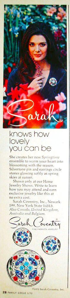 Sarah Coventy 1972 Advert