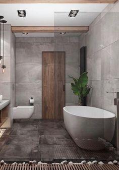 15 Extraordinary Bathroom Designs Ideas You Must Try 04 - Artegami Modern Bathroom Design, Bathroom Interior Design, Interior Design Living Room, Bathroom Designs, Earthy Bathroom, Bathroom Design Inspiration, Contemporary Bathrooms, Beautiful Bathrooms, House Design
