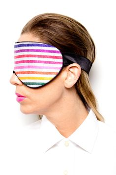 White Hand-Weaved Mexican Cotton Eye Mask | Perpetual Shade