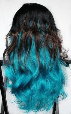 dark brown and blue