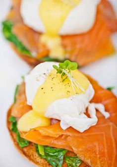 Poached eggs and salmon :)