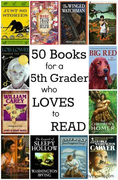 Looking for more books for your voracious reader, but you don't want mature themes? Try these! 50+ Books for a 5th Grader Who Loves to Read