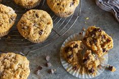 Banana Chocolate Chip Muffins | King Arthur Flour: Tender, moist banana muffins packed with toasted walnuts, cinnamon chips or bits, and chocolate chips.