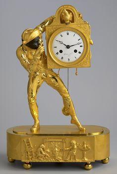 Pendule à l'Arlequin Wall Clock Brands, Wall Clock Online, Antique Watches, Vintage Watches, Wall Clock Luxury, Grandmother Clock, Antique Wall Clocks, Classic Clocks, Mantel Clocks