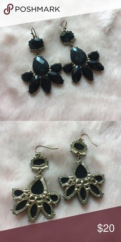 Anthropologie Black Earrings Anthropologie Black Earrings. Perfect condition. Anthropologie Jewelry Earrings