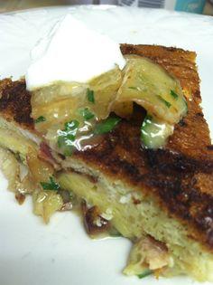 Spanish tortilla w/ potatoes, shallots, homemade bacon and parsley