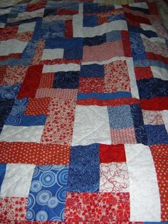 Endless possibilities from a very simple block. You can make this in a day.  Download this free quilt pattern and have fun!