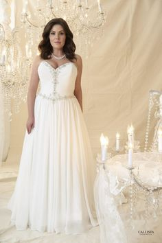 plus size wedding dress, plus size, callista bridal Plus Size Wedding Gowns, Tea Length Wedding Dress, Country Wedding Dresses, Dream Wedding Dresses, Plus Size Dresses, Maxi Dresses, Davids Bridal Dresses, Bridal Gowns, Dress Wedding