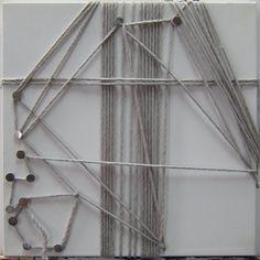 오상훈 Sanghoon Oh/ 여인 1702 A women 1702/ String and pin on canvas, 2017