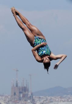 Pamela Ware of Canada competes in the Women's 1m Springboard Diving final on day four of the 15th FINA World Championships at Piscina Municipal de Montjuic on July 23, 2013 in Barcelona, Spain.