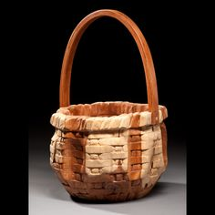 """Guy Bozard. """"Cedar Basket"""" 13"""" x 21"""" x 13"""" See this work and more at the Tennessee Craft Fair May 2-4, 2014 at Nashville's Centennial Park."""