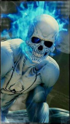 Blue Ghost Rider, Ghost Rider Marvel, Ghost Rider Wallpaper, Skull Wallpaper, Hulk Art, Spiderman Art, Deadpool Wallpaper, Avengers Wallpaper, Comic Kunst