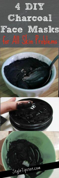 diy charcoal face masks