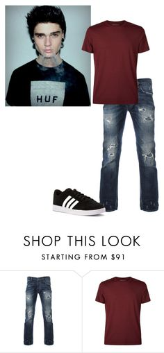 """""""OOTD//Austin"""" by anonanomaly ❤ liked on Polyvore featuring Derek Rose, adidas, men's fashion and menswear"""
