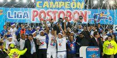 Millonarios gana su estrella 14  El azul es el equipo con más títulos en el fútbol colombiano    Millonarios le ganó en penalties al Medellín en El Campín. Terminó una sequía de 24 años. (16/12/2012)