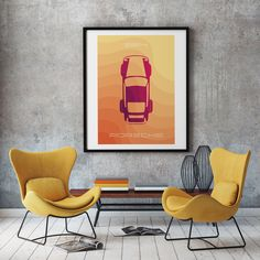 Excited to share the latest addition to my #etsy shop: Porsche 964 poster art, ideal for livingroom or diningroom, yellow and red, porsche wall art, printable art Gold Art, Poster Wall, Wall Art, Poster Art, Printable Wall Art, Art, Abstract