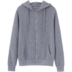 Women Long Sleeve Wing Decoration Hooded Sweatshirt Coat ($15) ❤ liked on Polyvore featuring outerwear, coats, gray coat, cotton coat, hooded coat, grey coat and long sleeve coat