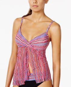 Profile by Gottex Geo-Print Flyaway Tankini Top Beach Fashion, Cute Bikini, Sexy Bikini