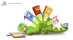 Daily Paint #1139. Thesaurus by Cryptid-Creations.deviantart.com on @DeviantArt