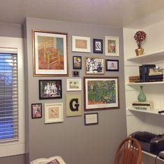 Gallery wall in office