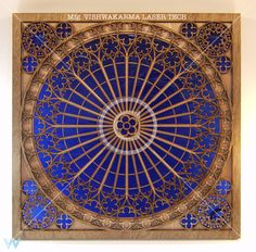 """Freestanding and wall-mounted pieces can be fitted with LED rim lights, giving """"Rose Window"""" a radiant glow from within."""
