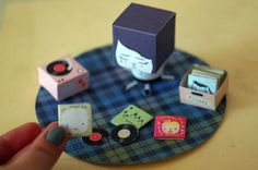 Sad Mona and her record collection  DIY paper craft by girliepains, $4.00