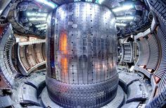 Atoms 'scream' when they fuse inside a reactor and the sound is frightening The magnetic chamber of a plasma fusion reactor at MIT is barely big enough for a person to crawl around inside. Future Energy, New Energy, Nuclear Energy, Nuclear Power, Energy Technology, Science And Technology, Nuclear Reaction, Plasma, Alternative Energy