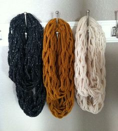 Diy Arm Knit Infinity Scarf « Diy decorating and crafts – EnjoyCrafting.com