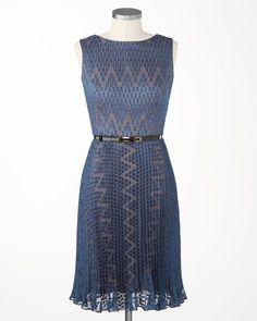 Zigzag lace dress