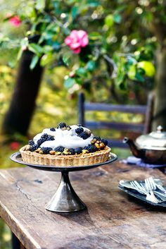 Still Life, Product and Food Photography, San Francisco, Tea Party Blackberry Tart