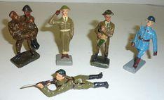 DURSO Sammlung 6 Massefiguren Soldat trägt Verwundeten Offizier mit Degen etc. | eBay