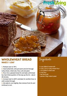 Need to start making my own bread Bread Tin, Bread Ingredients, South African Recipes, Meals In A Jar, Fresh Bread, Canning Recipes, Sugar And Spice, Bread Recipes, Food To Make