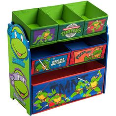 Delta Nickelodeon Teenage Mutant Ninja Turtles Multi-Bin Toy Organizer, Green