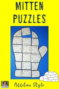 These Addition Mitten Puzzles are great for winter math centers, December, January, review, early and fast finishers, enrichment, GATE, & critical thinking skills. Any student that needs a lesson in perseverance will benefit from these puzzles. With this fun game format your students will stay engaged while practicing needed skills! Use them in your first, second, or third grade classroom or homeschool! Print on cardstock & you have games that last a LONG time! {1st, 2nd, & 3rd grade adding}…