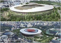 Kengo Kuma and Toyo Ito bid for Tokyo Olympic Stadium - Architecture Toyo Ito, Stadium Architecture, Facade Architecture, Helsinki, Stockholm, Montreal, Seoul, Amsterdam, Melbourne