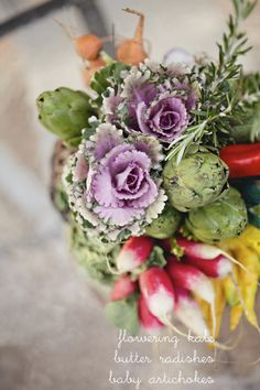 Veggie bouquet instead of flowers