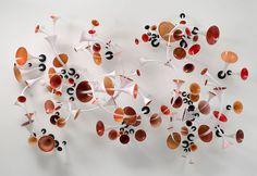 GRAHAM CALDWELL  Manifold, 2005, blown glass and steel, 60 x 84 x 24 inches