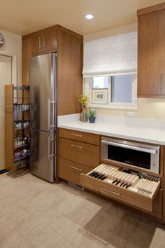 Contemporary Small Kitchen - contemporary - kitchen - san francisco - KB Cabinets