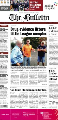 Thursday, October 9, 2014 - Subscribe to The Bulletin today: http://www.norwichbulletin.com/subscribenow #ctnews #newlondoncounty #windhamcounty