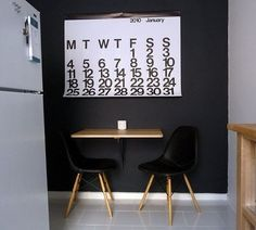 Yes, You Too Can Have an Eat-In Kitchen: IKEA's Wall-Mounted Drop Leaf Tables