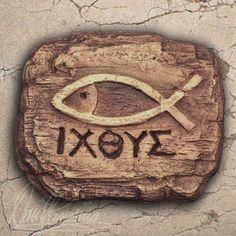 Ichthys, grabado en madera.  Jorge A. Rizo