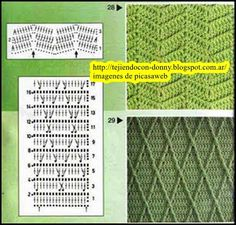 PATRONES - CROCHET - GANCHILLO - GRAFICOS: DIAGRAMAS