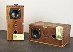 "Owen & Fred are offering cigar and audio aficionados a way to combine their two interests in one form factor: Sweet Cigar Box Speakers. Made from genuine salvaged wood cigar boxes, the handmade cedar cigar box house a 2.5"" aluminum cone speaker with a self-powered with an internal 10 watt per channel amplifier inside..."