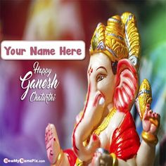 Bal ganesh chaturthi wishes image edit online by customized name writing, best collection greeting card festival of happy ganesh chaturthi pictures create, personalized name generator tools celebration wishes, online photo maker option creator app happy ganesh chaturthi wallpaper editing free. Ganesh Chaturthi Status, Ganesh Chaturthi Greetings, Happy Ganesh Chaturthi Wishes, Prp For Hair Loss, Best Photo Frames, Ganesh Photo, Ganesh Lord, Photo Maker, Ganesh Statue