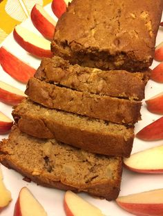 This cinnamon apple bread is simply amazing!  It tastes as good as it smells, smells as good as it tastes, and tastes as good as it looks!  YUMMM! What could be better than a combo of apples and cinnamon?  How about apples + cinnamon + brown sugar?  Yes, yes, yes! This amazing bread is infused with cinnamon flavor as it uses two full teaspoons of cinnamon.  It has real diced apple pieces throughout for a burst of fresh apple flavor in every bite.  And the only sugar in this quick bread is…