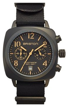 Briston Chronograph NATO Strap Watch, 40mm x 40mm