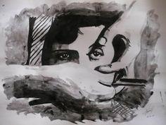 """Cena do filme """"Um cão andaluz"""" Tattoo Designs, History, Painting, Tattoo, Movie, Surrealism, Art, Historia, Painting Art"""
