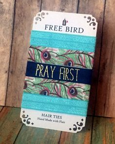 Free Bird Pray First Hair Ties