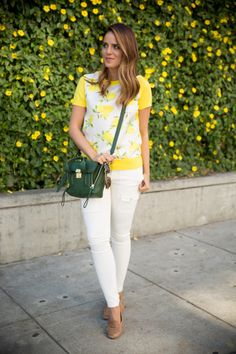 Yellow, White, Green
